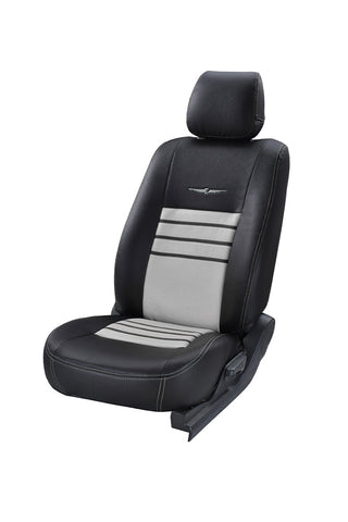 Trend Neo Boxer Art Leather Seat Cover Black and Silver