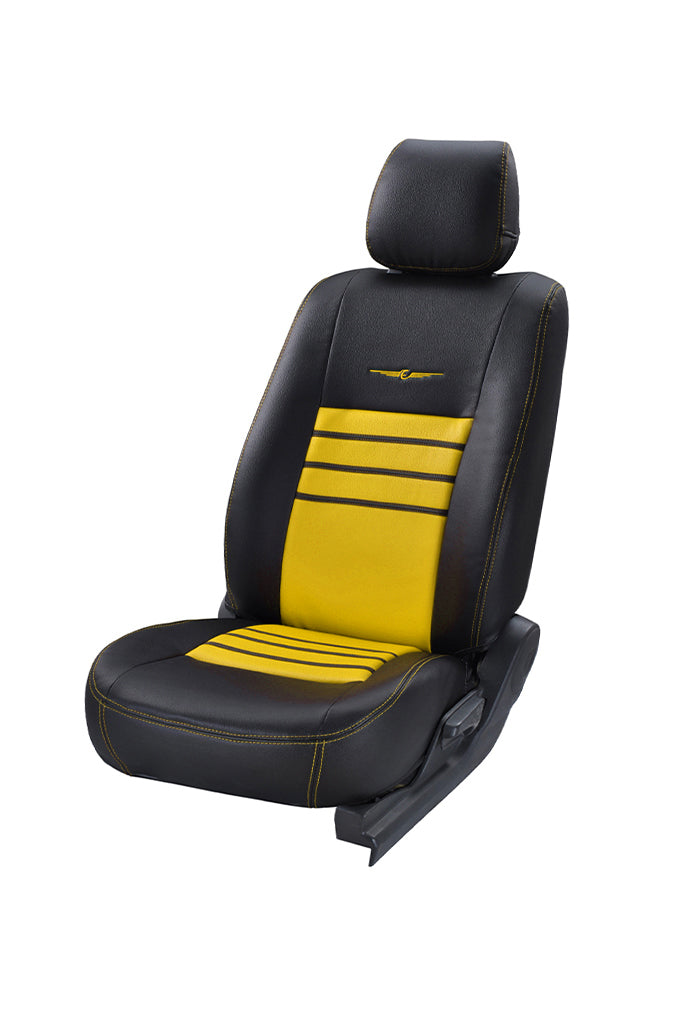Trend Neo Boxer Art Leather Car Seat Cover Black and Yellow