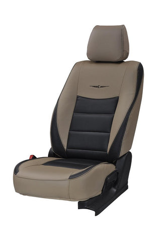Trend Neo Soldier Duo Art Leather Car Seat Cover Beige and Black