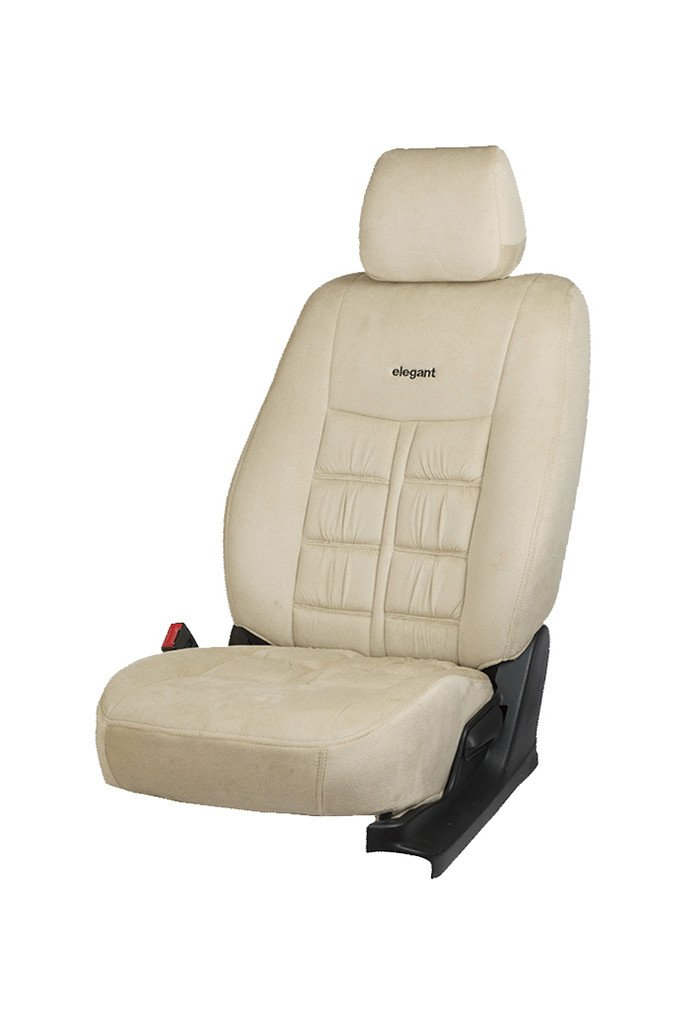 Emperor Velvet Fabric Car Seat Cover Beige