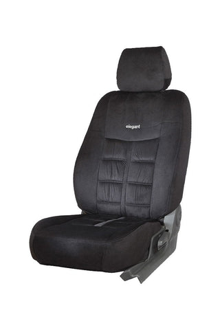 Emperor Velvet Fabric Car Seat Cover Black