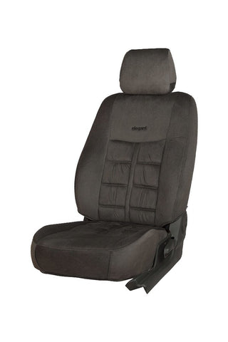 Emperor Velvet Fabric Car Seat Cover Grey