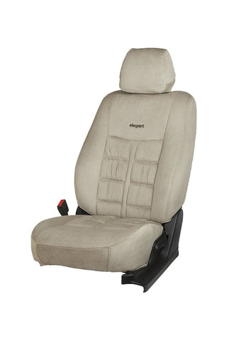 Emperor Velvet Fabric Car Seat Cover I-Grey