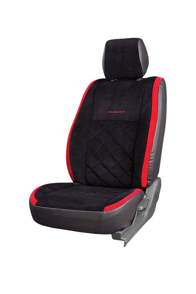 Europa Racer Fabric Car Seat Cover Black