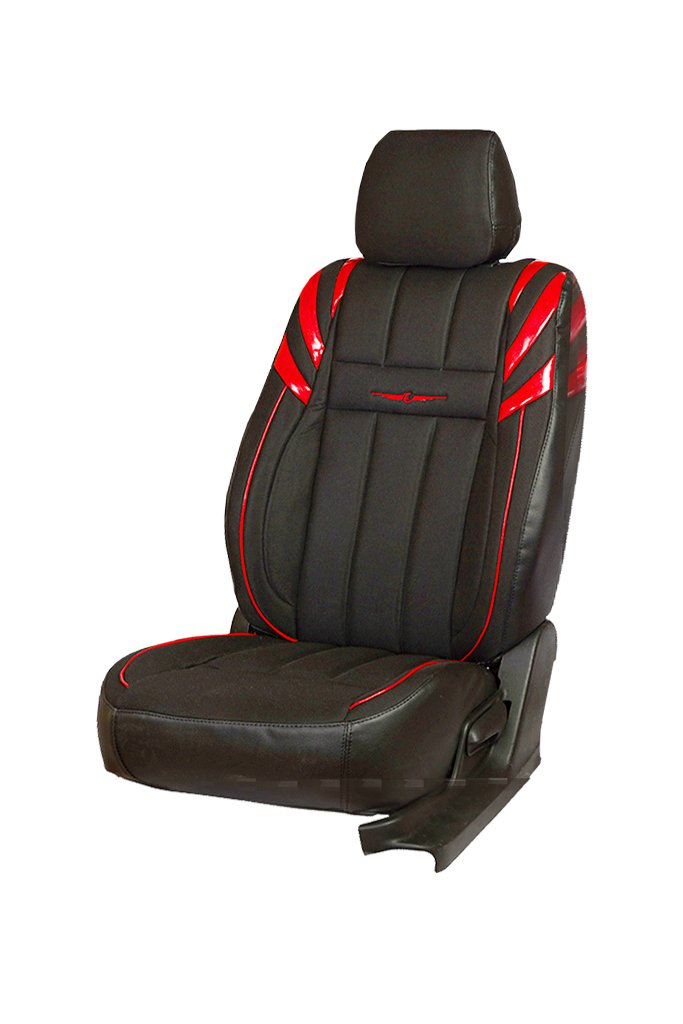 Fresco Sportz Bucket Fabric Car Seat Cover Black And Red