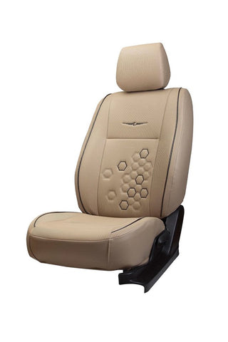 Fresco Fizz Fabric Car Seat Cover Beige