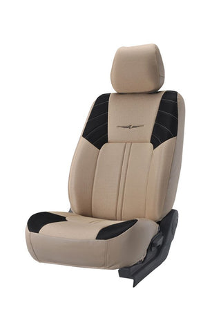 Fresco Sonic Fabric Car Seat Cover Beige