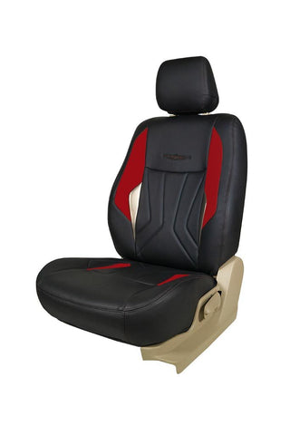 Glory Robust Art Leather Car Seat Cover Black and Red