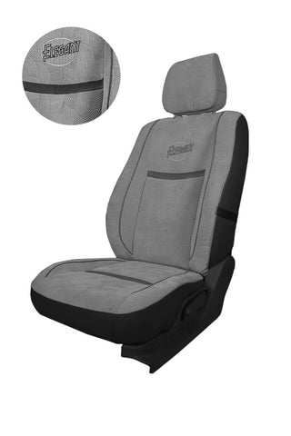 Comfy Waves Fabric Car Seat Cover Grey & Black