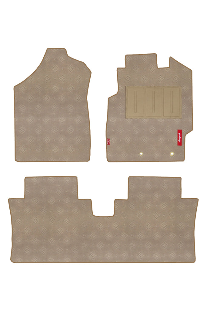 Jewel Car Carpet Floor Mat Beige (Set of 3)