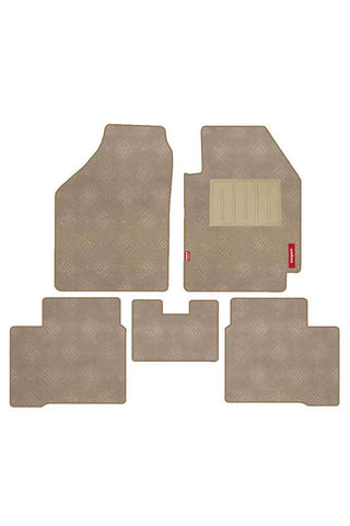 Jewel Carpet Car Floor Mat Beige (Set of 5)
