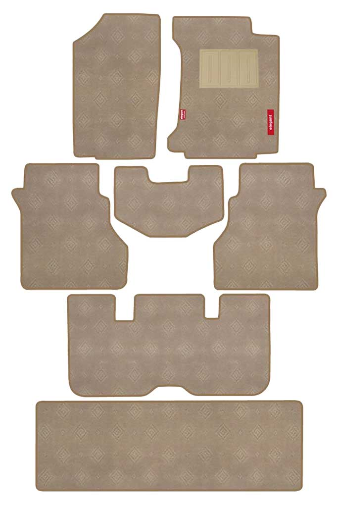 Jewel Carpet Car Floor Mat Beige (Set of 7)