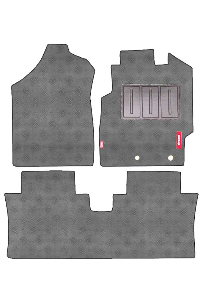Jewel Anthra Car Carpet Floor Mat Grey (Set of 3)