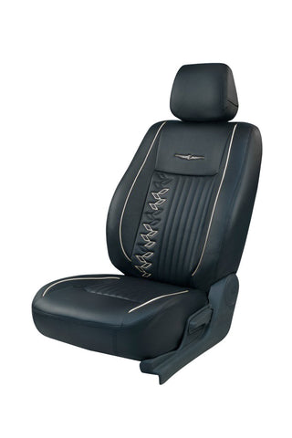 Trend Knight Art Leather Car Seat Cover Black and White