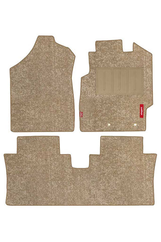 Luxury Carpet Car Floor Mat Beige (Set of 3)
