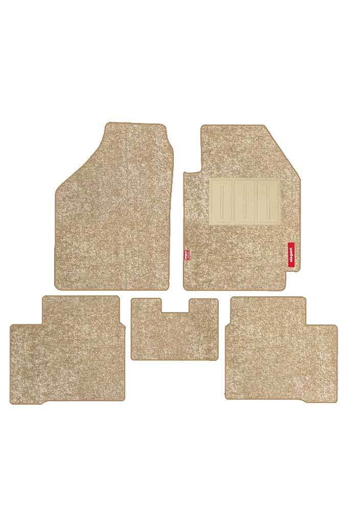 Luxury Carpet Floor Mat Beige Set Of 5 Luxury Car Mats