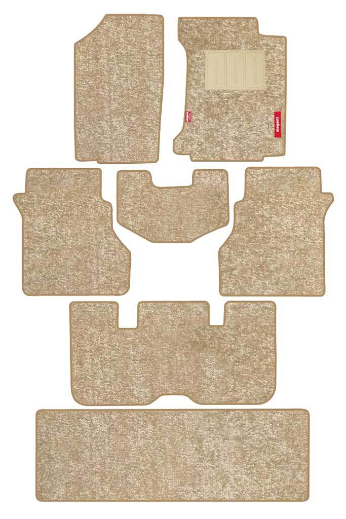 Luxury Carpet Car Floor Mat Beige (Set of 7)