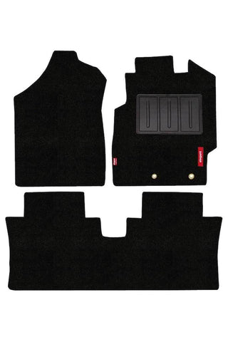 Luxury Carpet Car Floor Mat Black (Set of 3)