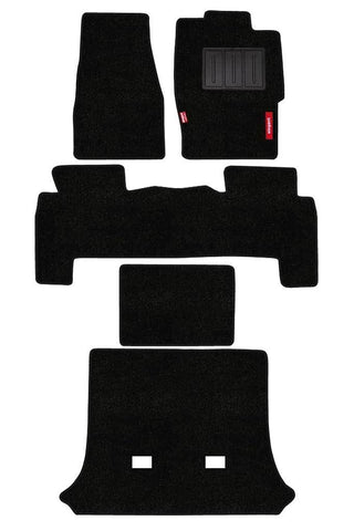 Luxury Carpet Car Floor Mat Black (Set of 5)
