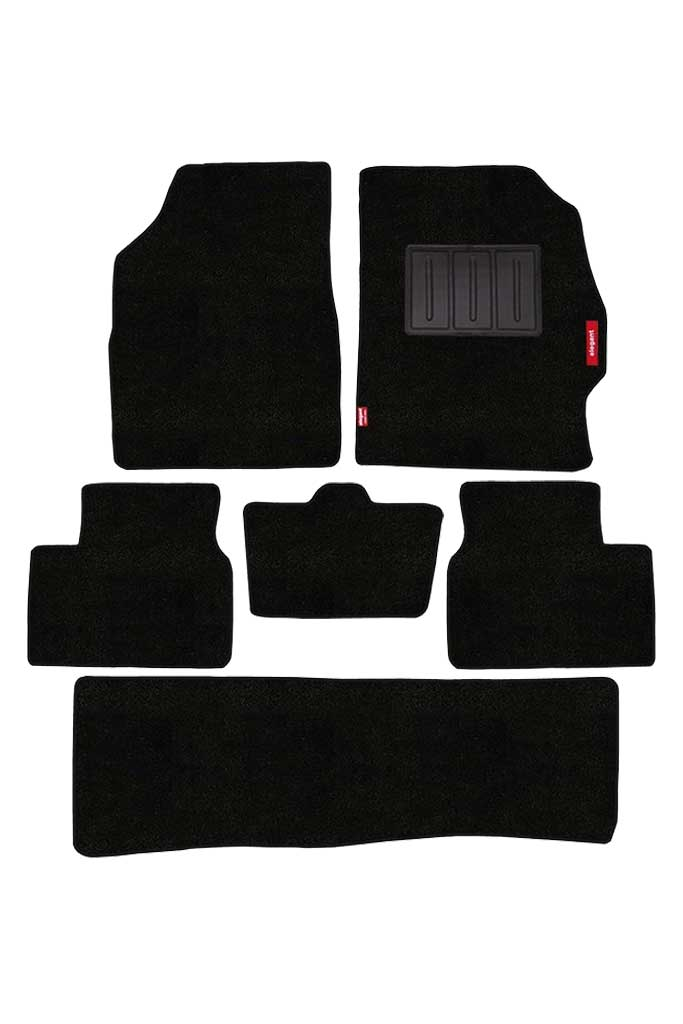 Luxury Carpet Car Floor Mat Black (Set of 6)