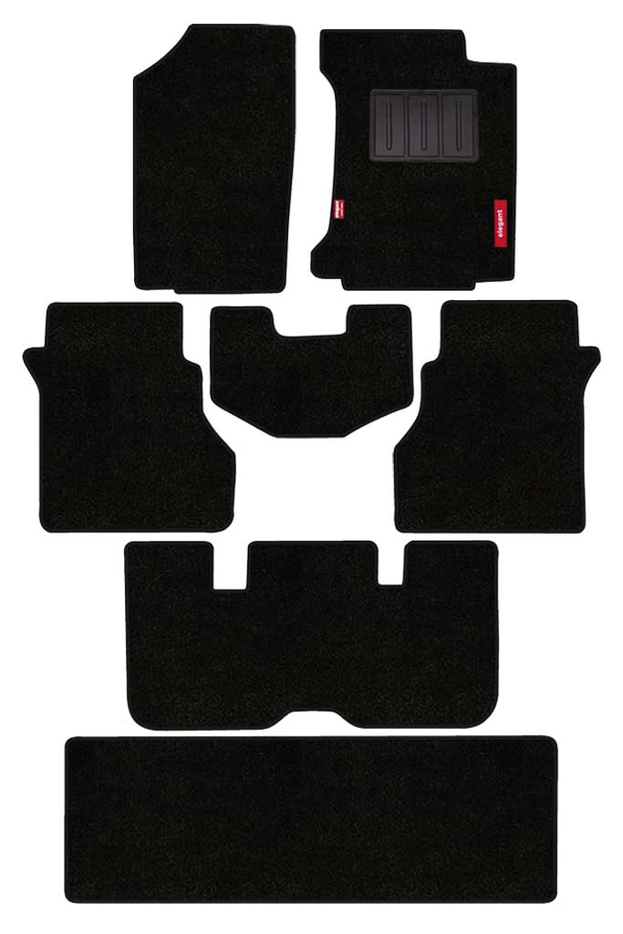 Luxury Carpet Car Floor Mat Black (Set of 7)