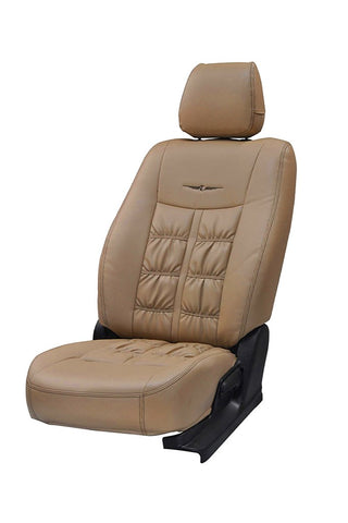 Nappa Grande Art Leather Car Seat Cover Beige