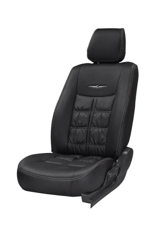 Nappa Grande Art Leather Car Seat Cover Black
