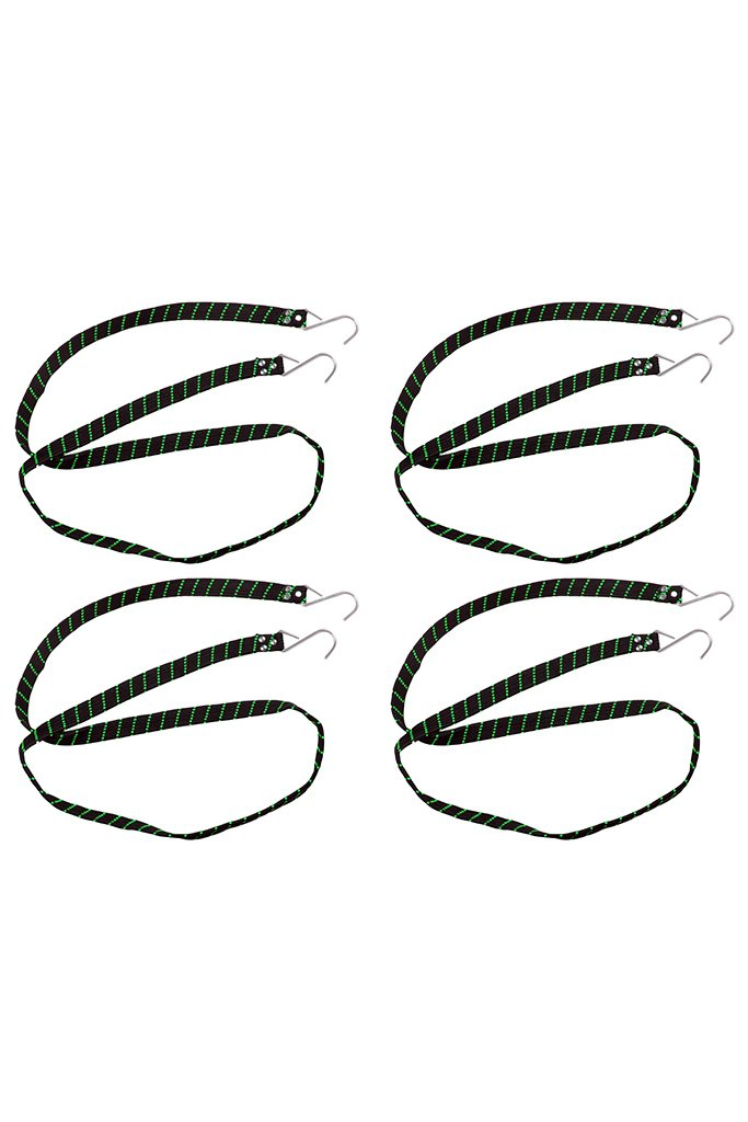 Flat Strap Black (Set of 4)