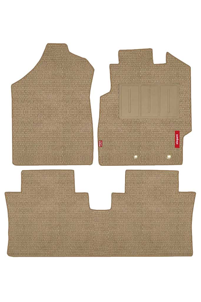Popcorn Carpet Car Floor Mat Beige (Set of 3)