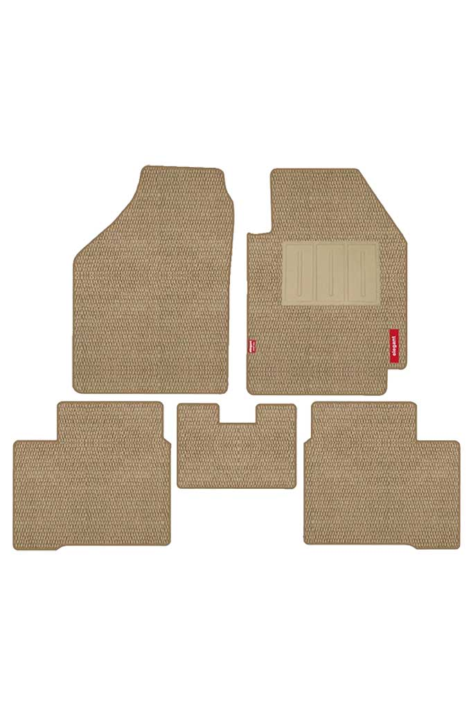 Popcorn Carpet Car Floor Mat Beige (Set of 5)