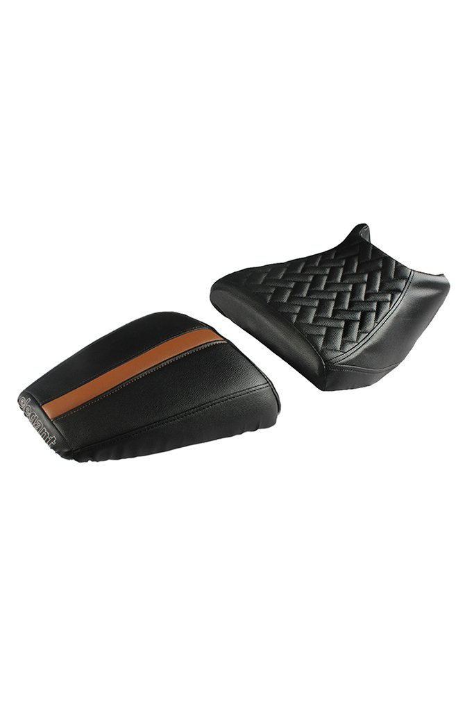 Prime Luxury Twin Bike Seat Cover Black and Tan for KTM Duke