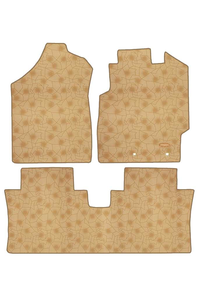 Printed Car Floor Mats Beige (Set of 3)