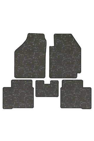 Printed Car Floor Mats Black (Set of 5)