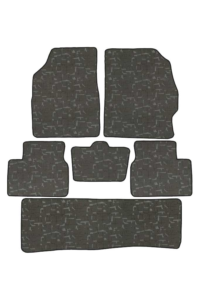 Printed Car Floor Mats Black (Set of 6)