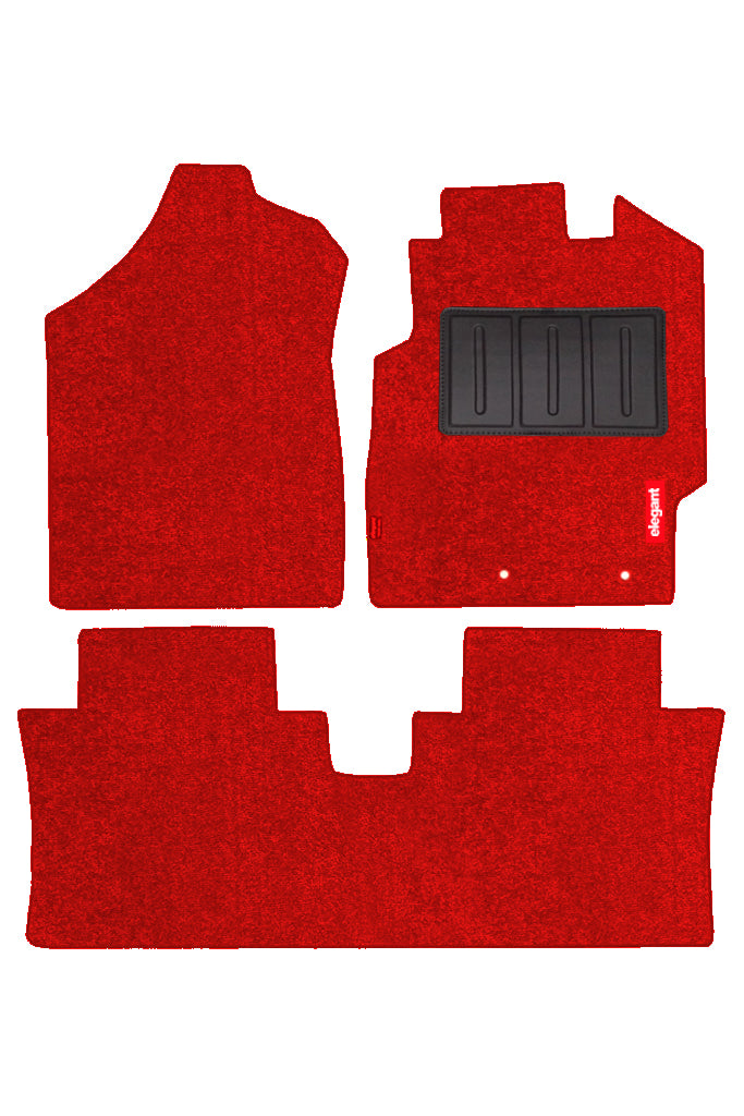 Luxury Carpet Car Floor Mat Red (Set of 3)