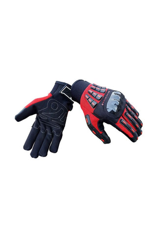 Biking Brotherhood Riding Gloves Black and Red