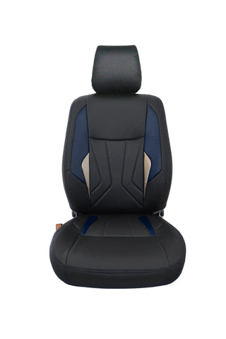 Glory Robust Art Leather Car Seat Cover Black and Blue
