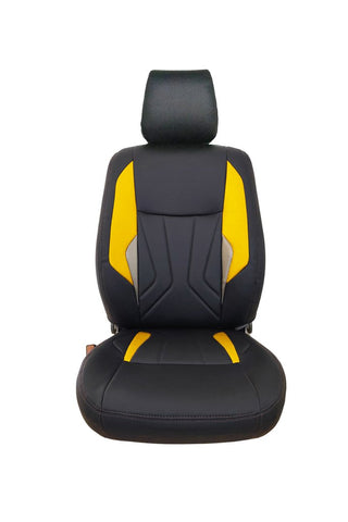 Glory Robust Art Leather Car Seat Cover Black and Yellow