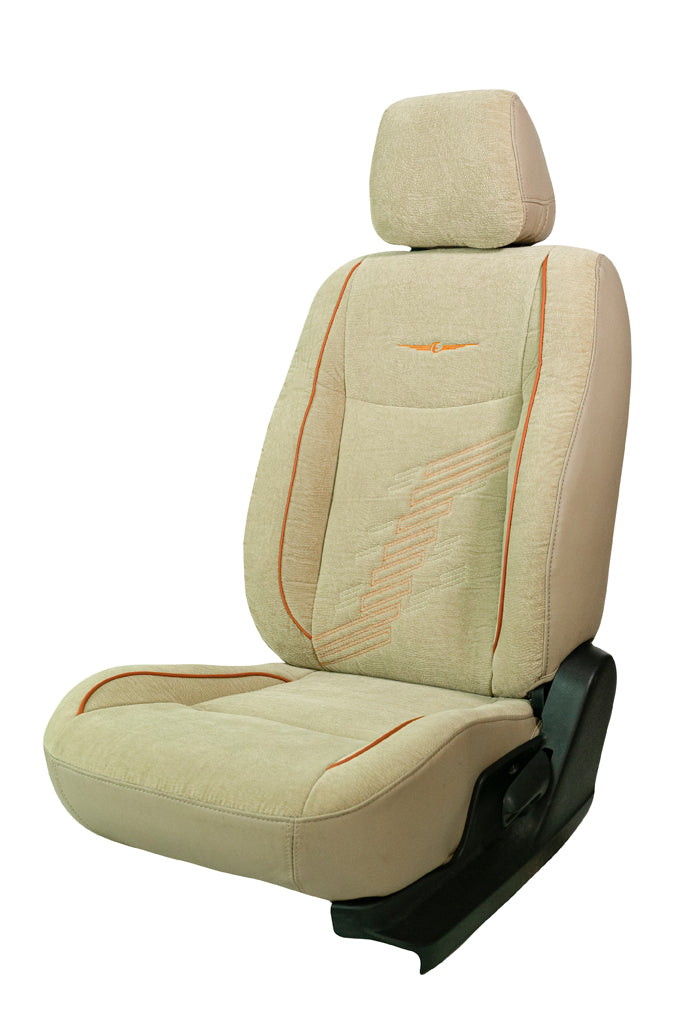 Comfy Z-Dot Fabric Car Seat Cover Beige