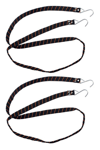 Flat Wide Strap Black (Set of 2)