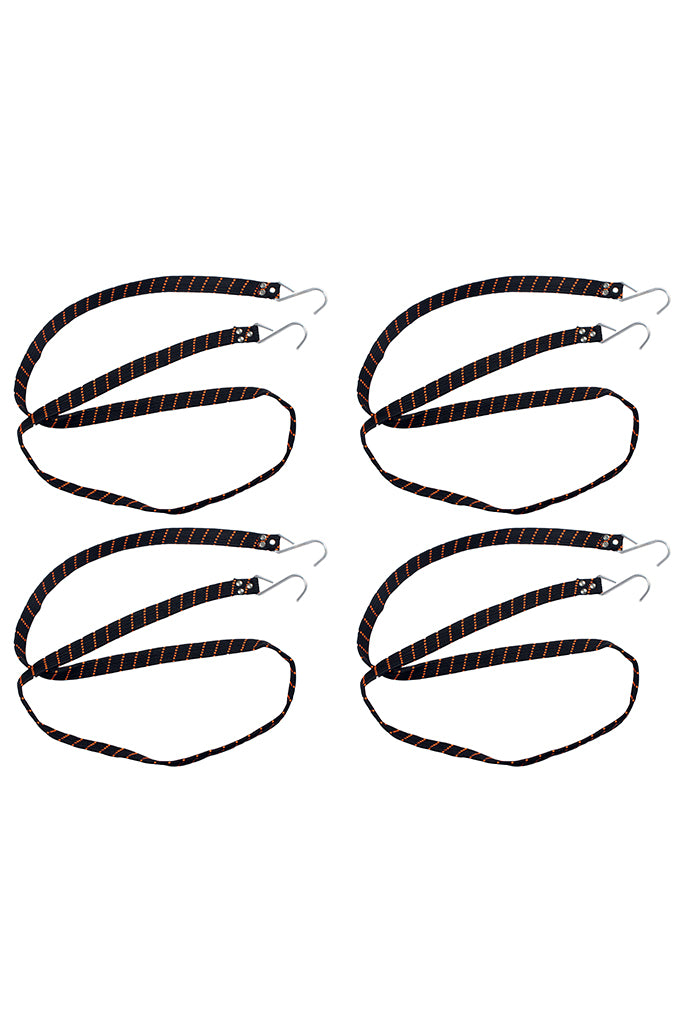 Flat Wide Strap Black (Set of 4)