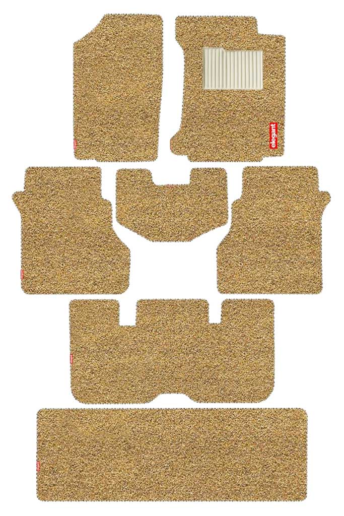 Spike Car Floor Mat Beige (Set of 7)