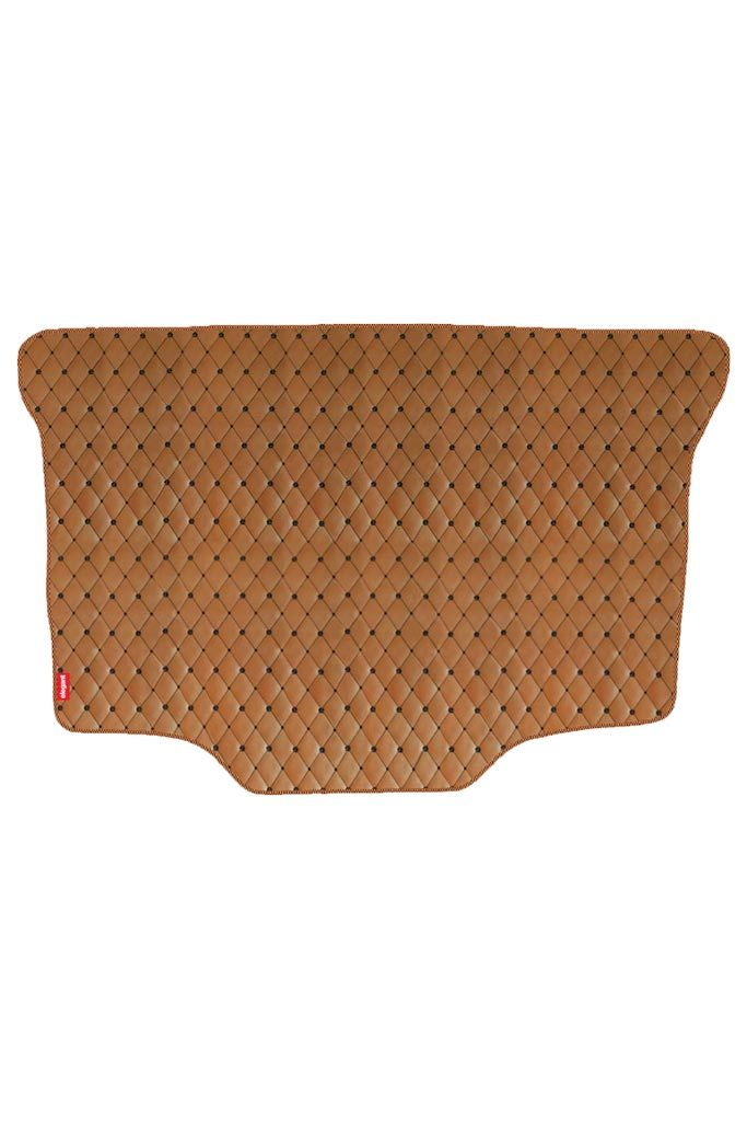 Luxury Leatherette Car Dicky Mat Tan & Black