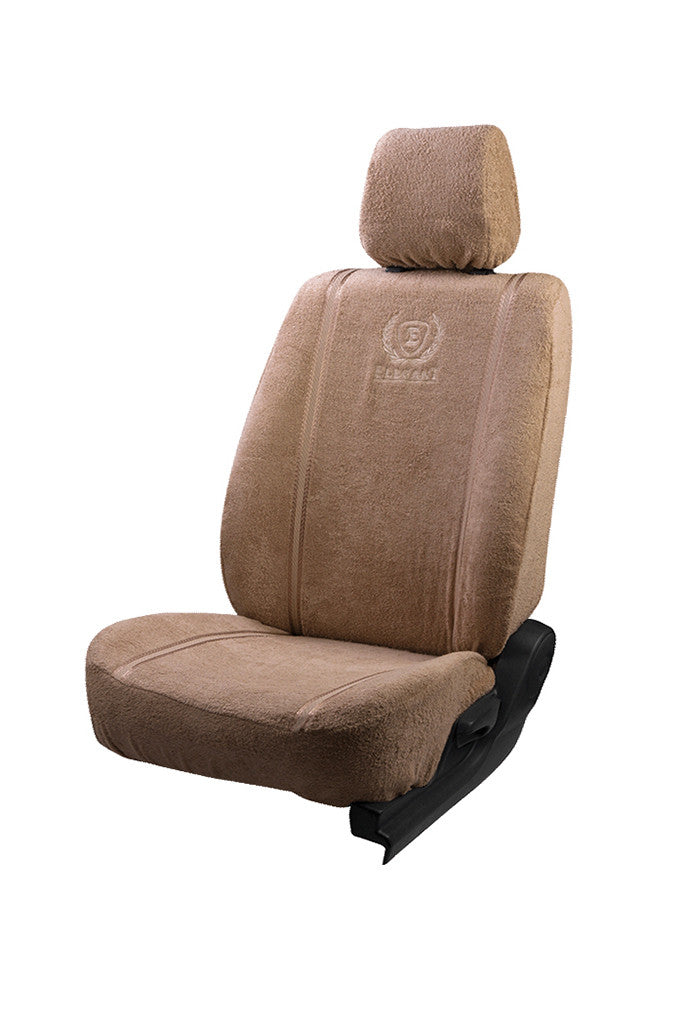 Towel Fabric Car Seat Cover Beige
