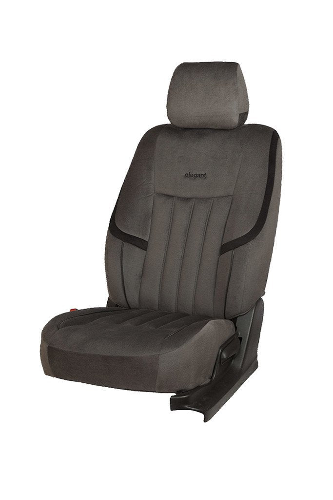 King Velvet Fabric Car Seat Cover Grey