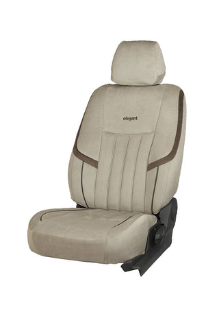 King Velvet Fabric Car Seat Cover I-Grey