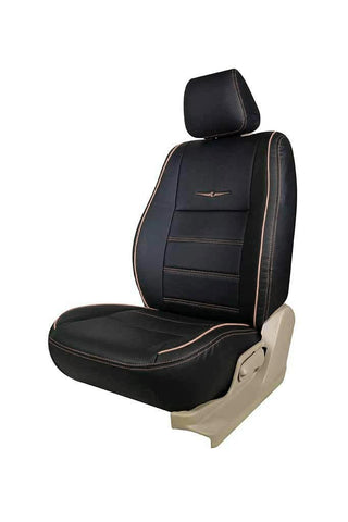 Vogue Urban Art Leather Car Seat Cover Black and Beige