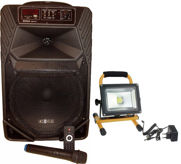 Portable Sound System with Lighting, music and Mic