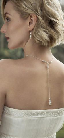 Annika back drop bridal necklace Honey Willow