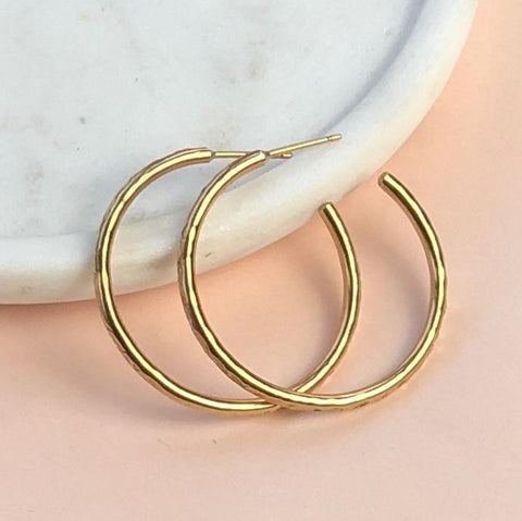 chunky gold hoops Honey Willow